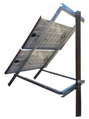 side of pole solar mount